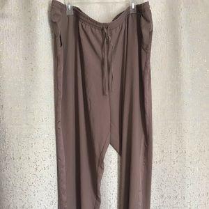 Lane Bryant tan drawstring pants, 22/24